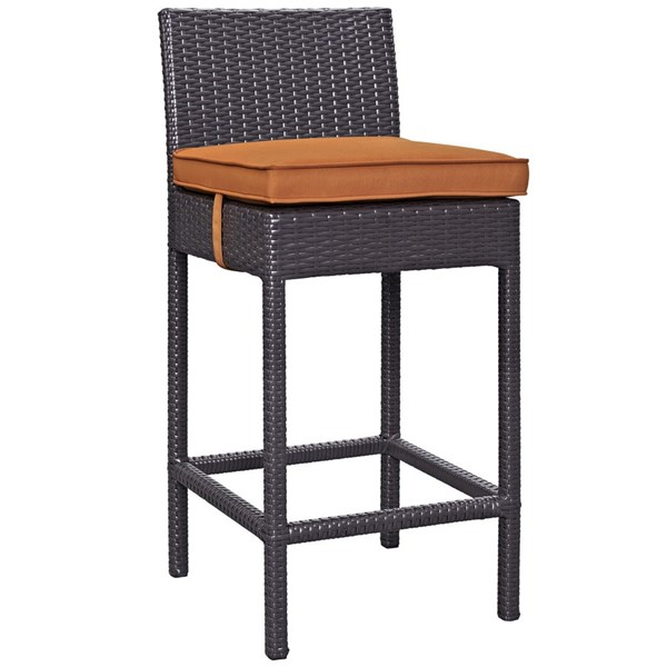 Modway Furniture Lift Espresso Orange Outdoor Patio Bar Stool EEI-1006-EXP-ORA