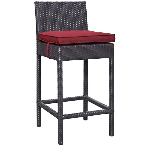 Modway Furniture Convene Red Outdoor Patio Bar Stool EEI-1006-EXP-RED