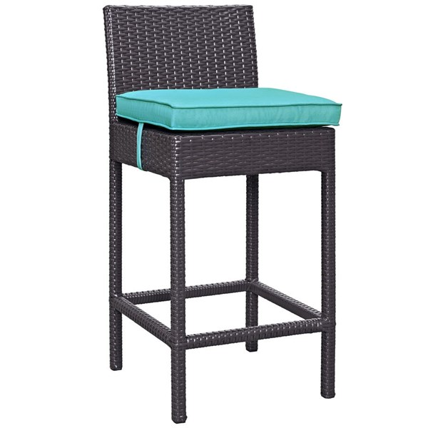 Modway Furniture Convene Turquoise Outdoor Patio Bar Stool EEI-1006-EXP-TRQ