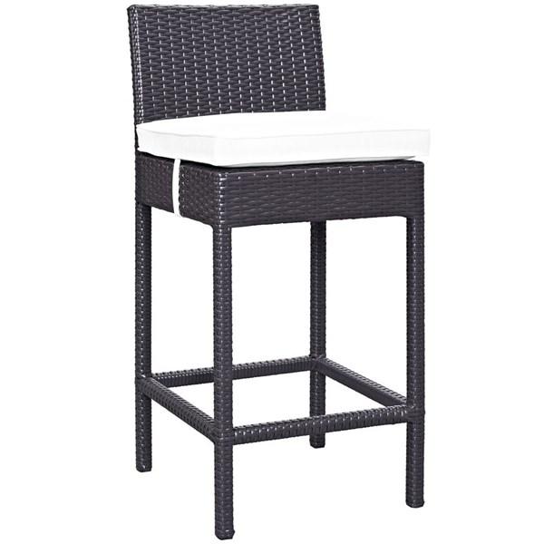 Modway Furniture Convene White Outdoor Patio Bar Stool EEI-1006-EXP-WHI