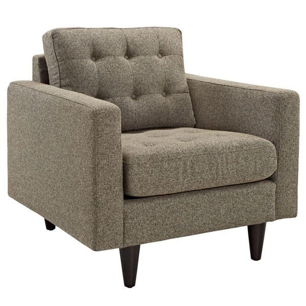 Empress Modern Oatmeal Fabric Solid Wood Upholstered Armchair EEI-1013-OAT