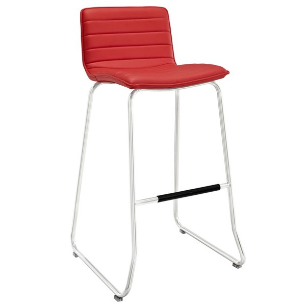 Dive Red PU Wood Steel Upholstered Bar Stool EEI-1030-RED