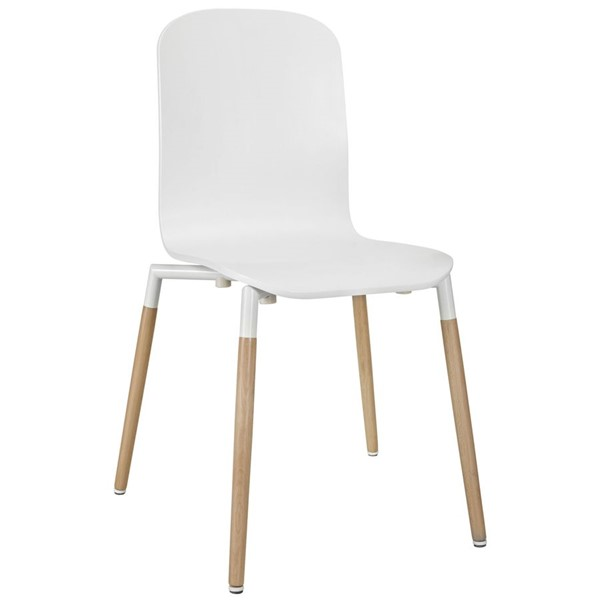 Modway Furniture Stack White Dining Side Chair EEI-1054-WHI