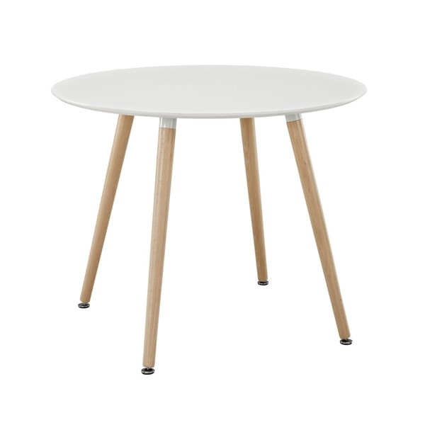 Modway Furniture Track White Circular Dining Table EEI-1055-WHI