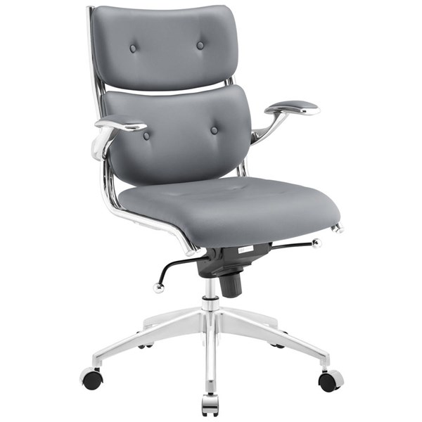 Modway Furniture Push Gray Mid Back Office Chair EEI-1062-GRY
