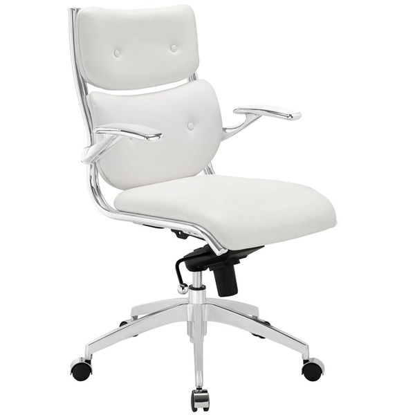 Modway Furniture Push White Mid Back Office Chair EEI-1062-WHI