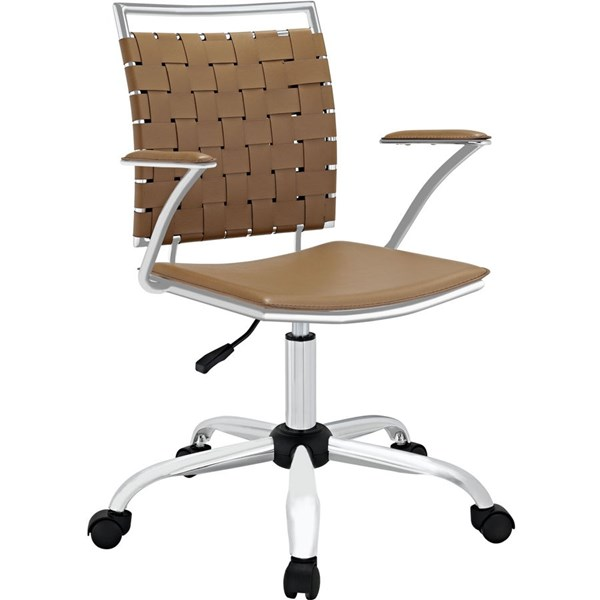 Fuse Modern Tan PVC Metal Adjustable Height Office Chair EEI-1109-TAN