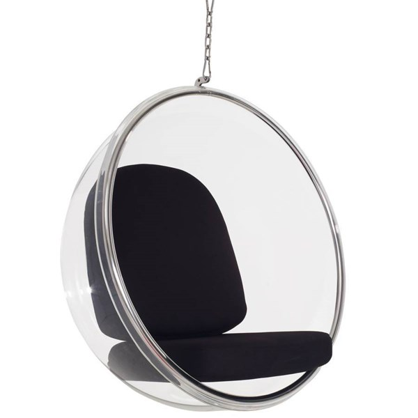 Ring Black Red Acrylic Steel Polycotton Lounge Chairs EEI-111