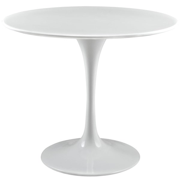 Lippa Traditional White Wood Metal 36 Inch Top Dining Table EEI-1116-WHI
