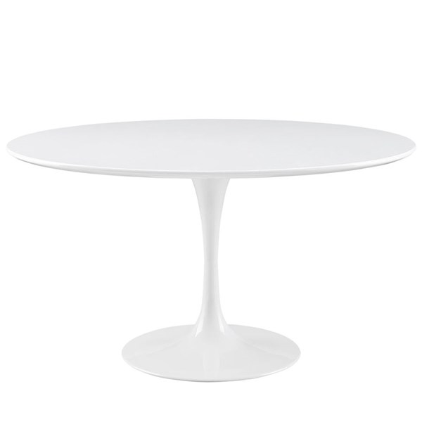 Modway Furniture Lippa 54 Inch Wood Top Dining Table EEI-1119-WHI