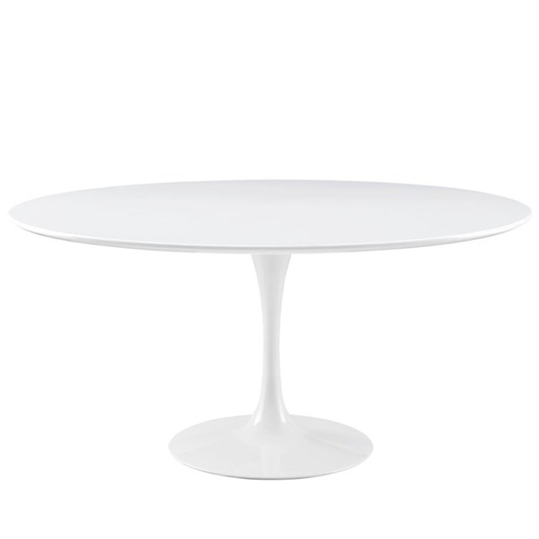Modway Furniture Lippa 60 Inch Wood Top Dining Table EEI-1120-WHI