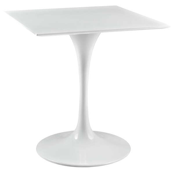 Modway Furniture Lippa White 28 Inch Square Wood Top Dining Table EEI-1123-WHI