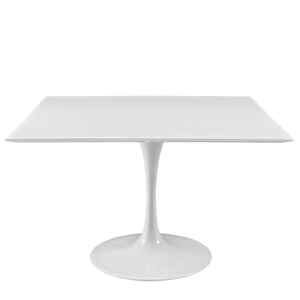 Modway Furniture Lippa White 47 Inch Square Wood Top Dining Table EEI-1125-WHI