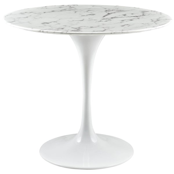 Modway Furniture Lippa White 36 Inch Artificial Marble Dining Table EEI-1129-WHI