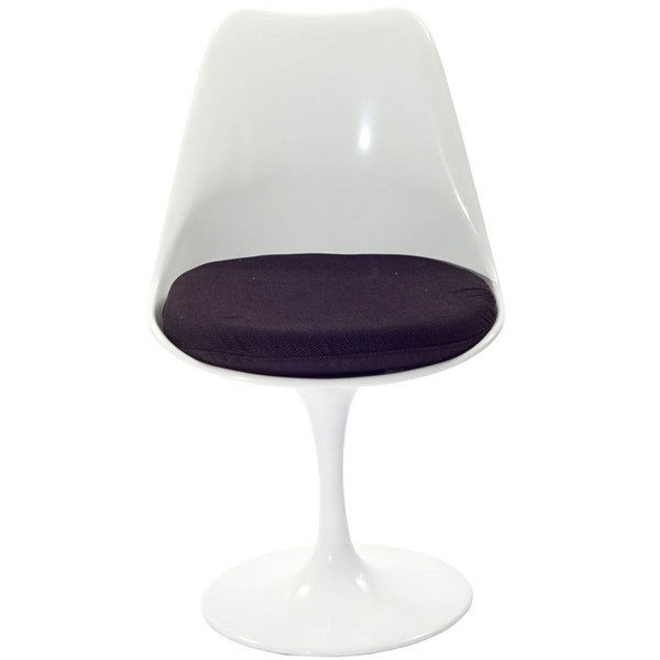 Modway Furniture Lippa Black Fabric Dining Side Chair EEI-115-BLK