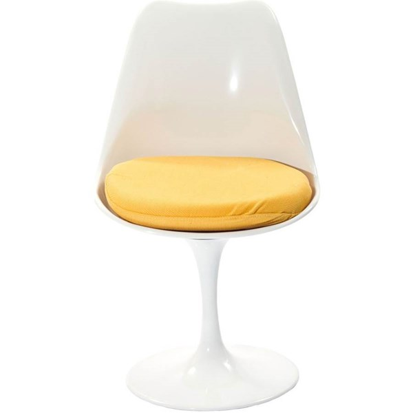 Lippa Modern Yellow Fabric ABS Plastic Dining Side Chair EEI-115-YLW