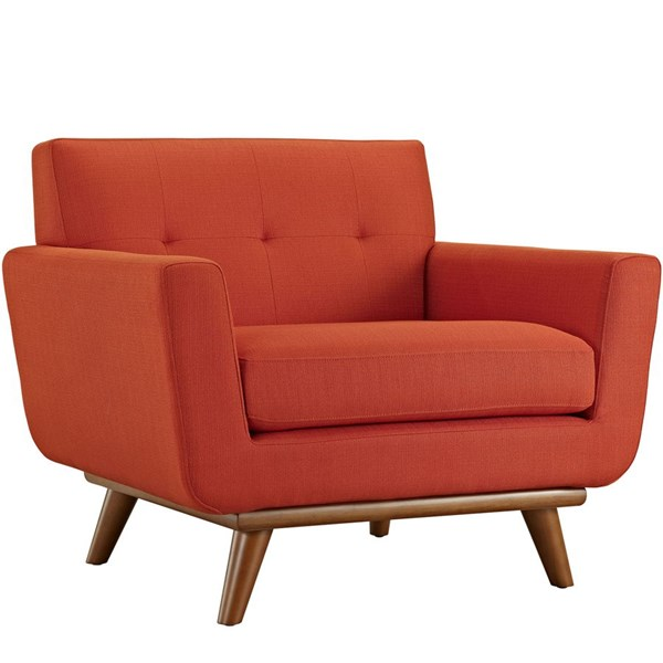 Engage Atomic Red Fabric Wood Upholstered Armchair EEI-1178-ATO