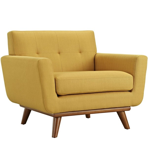 Engage Citrus Fabric Wood Upholstered Armchair EEI-1178-CIT