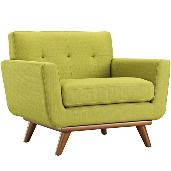 Engage Wheatgrass Fabric Wood Upholstered Armchair EEI-1178-WHE
