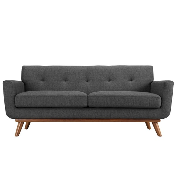 Engage Gray Fabric Wood Upholstered Loveseat EEI-1179-DOR