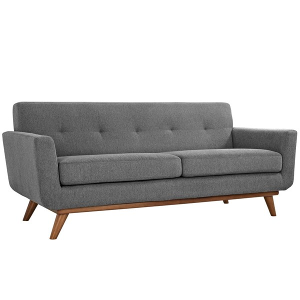 Modway Furniture Engage Gray Upholstered Loveseat EEI-1179-GRY