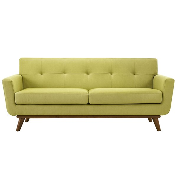 Engage Wheatgrass Fabric Wood Upholstered Loveseat EEI-1179-WHE