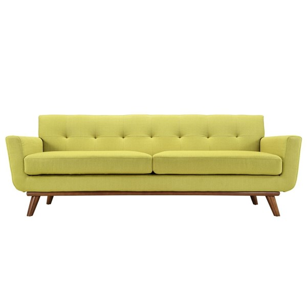 Engage Wheatgrass Fabric Wood Upholstered Sofa EEI-1180-WHE
