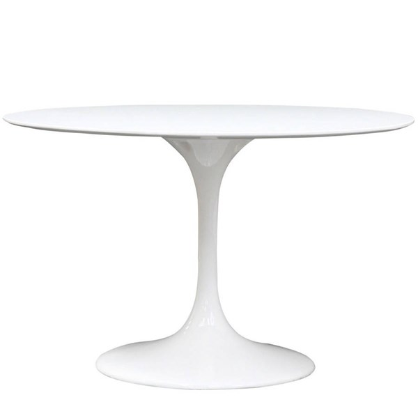 Modway Furniture Lippa 48 Inch Fiberglass Dining Table EEI-119-WHI