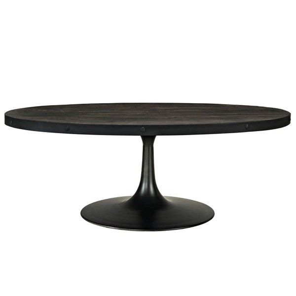 Drive Modern Black Metal Wood Top Coffee Tables EEI-1204-CT-VAR
