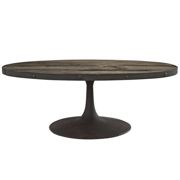 Drive Modern Brown Metal 3pc Coffee Table Set EEI-1204-OCT-S1