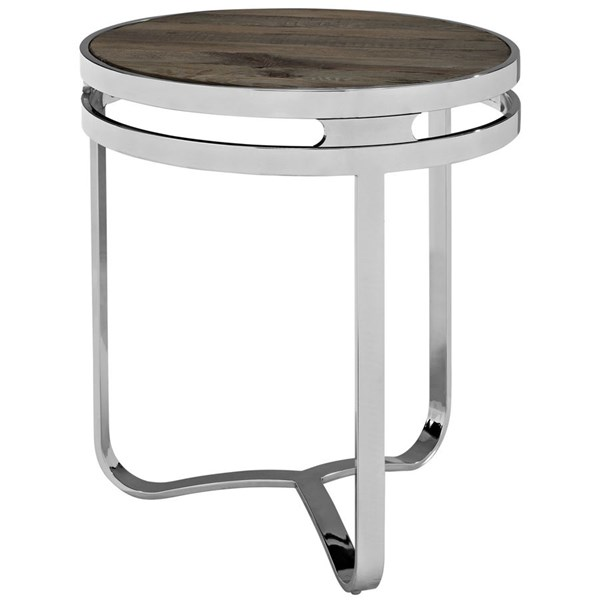 Modway Furniture Provision Wood Top Side Table EEI-1214-BRN