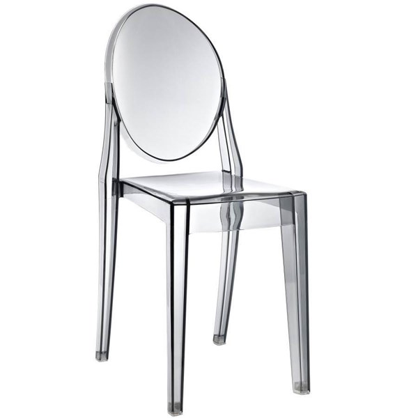 Modway Furniture Casper Smoked Clear Dinette Chair EEI-122-SMK