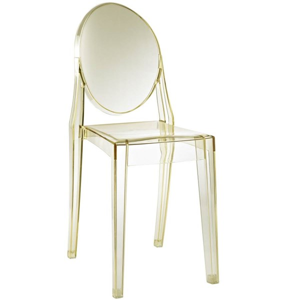Casper Contemporary Yellow Polycarbonate Armless Dinette Chair EEI-122-YLW