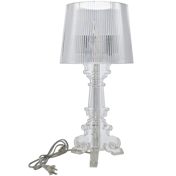 French Modern Clear Acrylic Petit Table Lamp EEI-1226-CLR