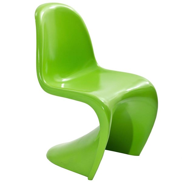 Slither Green ABS Plastic Dining Side Chair EEI-123-GRN
