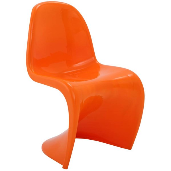 Slither Orange ABS Plastic Dining Side Chair EEI-123-ORA