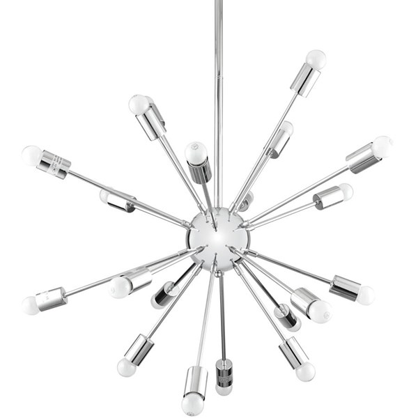 Volley Modern Silver Metal Chandelier EEI-1234-SLV