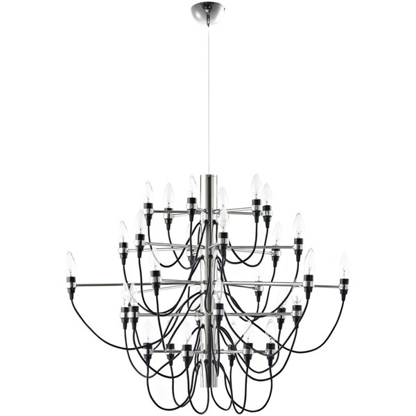Starbright Modern Black Metal Chandelier EEI-1237-BLK