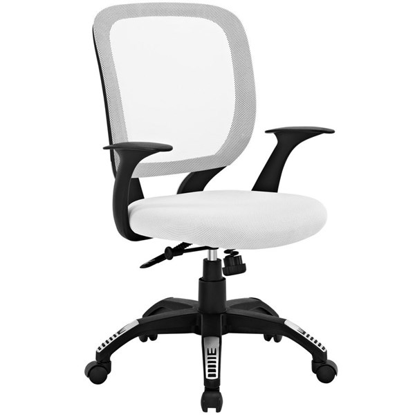 Scope Modern White Mesh PP Adjustable Height Office Chair EEI-1245-WHI