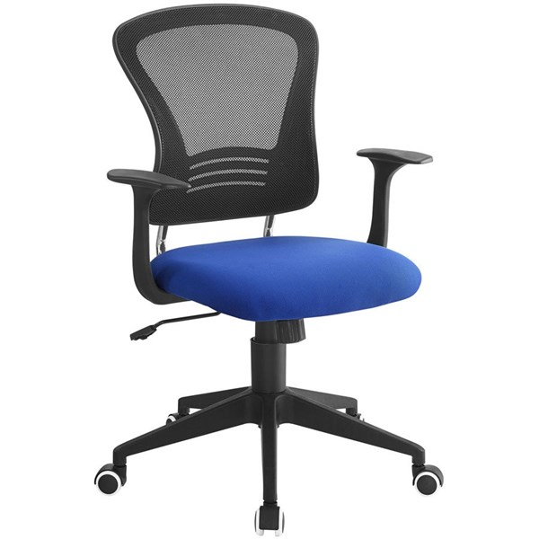 Poise Black Blue Mesh PP Lumber Support Office Chair EEI-1248-BLU