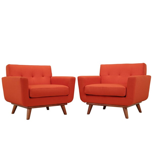 Engage Atomic Red Fabric Wood Armchair Set EEI-1284-ATO
