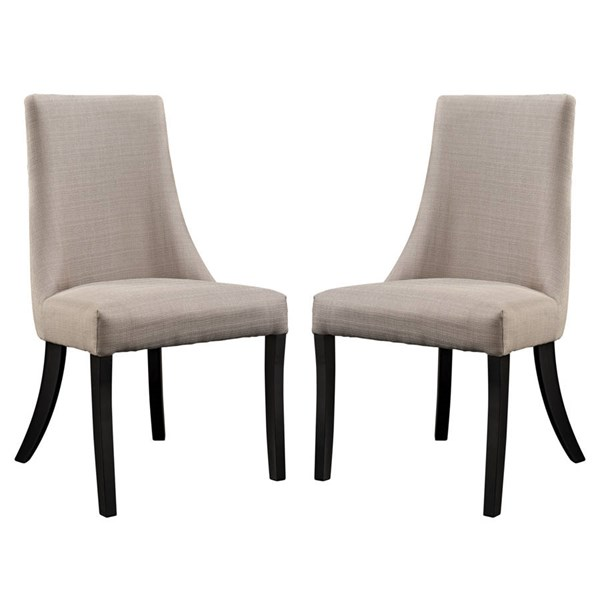 2 Modway Furniture Reverie Beige Dining Side Chairs EEI-1297-BEI