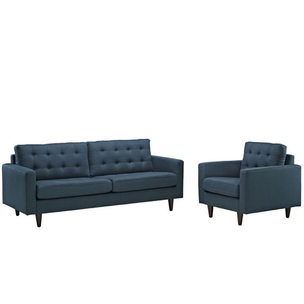 Modway Furniture Empress Azure Armchair and Sofa Set EEI-1313-AZU