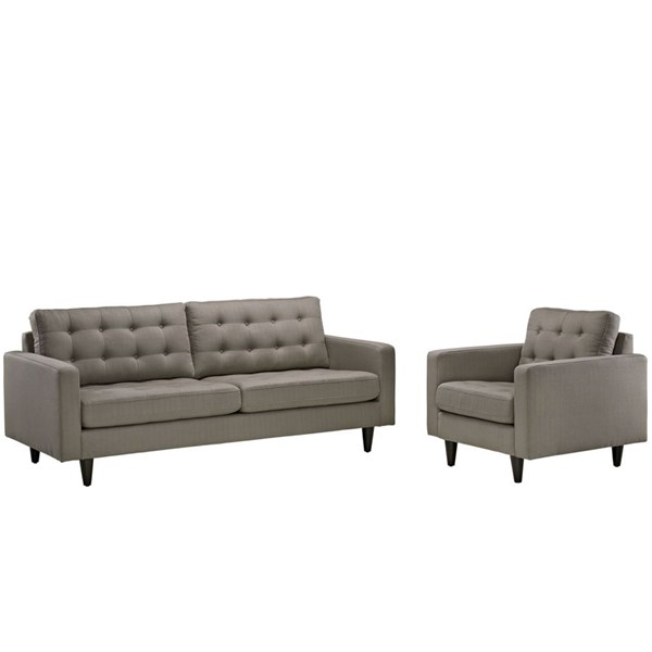 Modway Furniture Empress Granite Armchair and Sofa Set EEI-1313-GRA