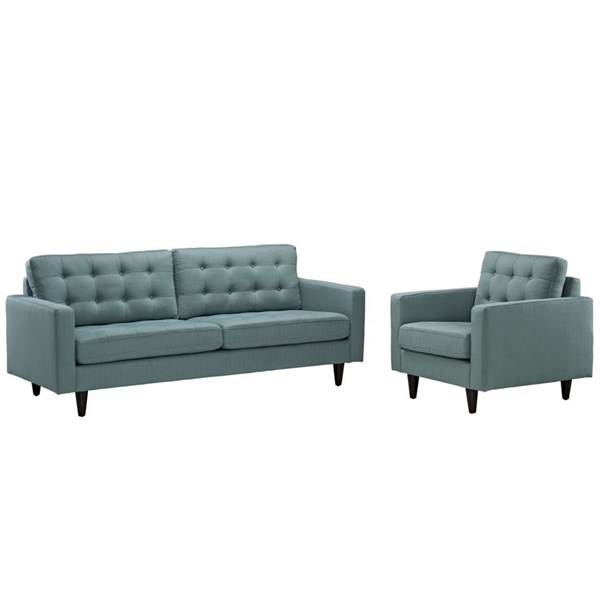 Modway Furniture Empress Laguna Armchair and Sofa Set EEI-1313-LAG