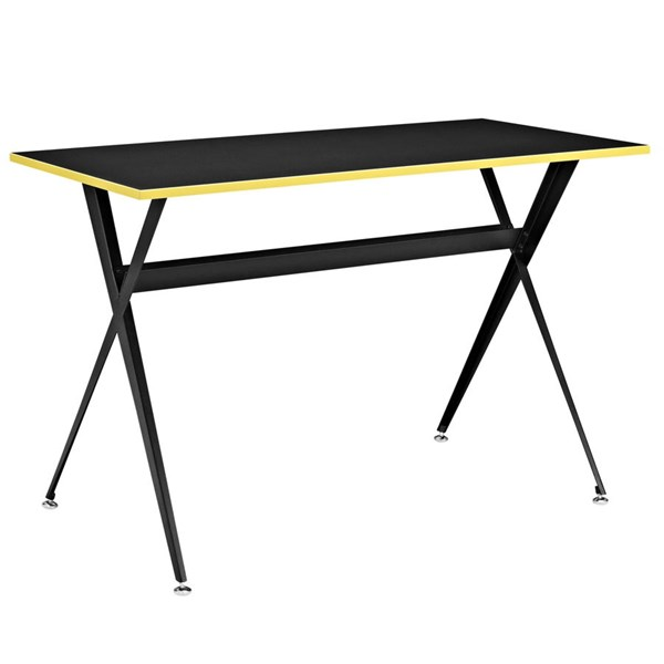 Expound Contemporary Black Melamine Metal Office Desk EEI-1325-BLK