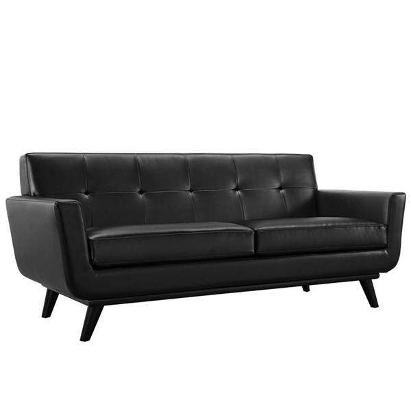 Modway Furniture Engage Bonded Leather Loveseat EEI-1337-BLK