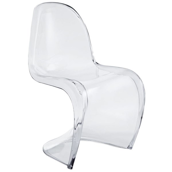 Slither Clear Acrylic Solid Seat Dining Side Chairs EEI-1339-DR-CH-VAR