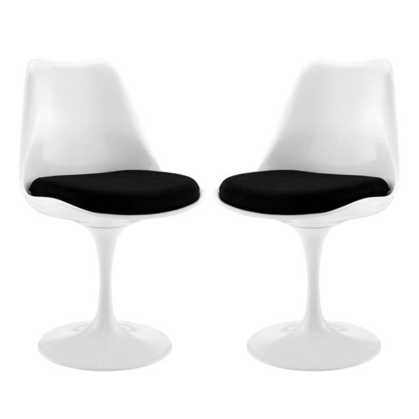 2 Modway Furniture Lippa Black Dining Side Chairs EEI-1343-BLK