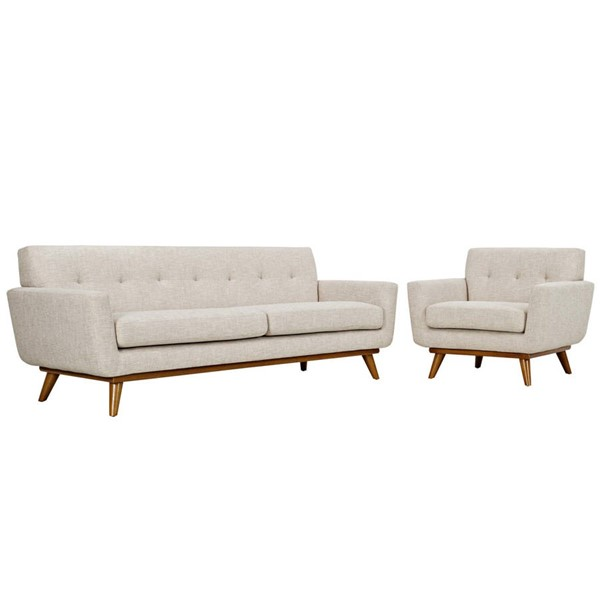 Modway Furniture Engage Beige Armchair and Sofa Set EEI-1344-BEI